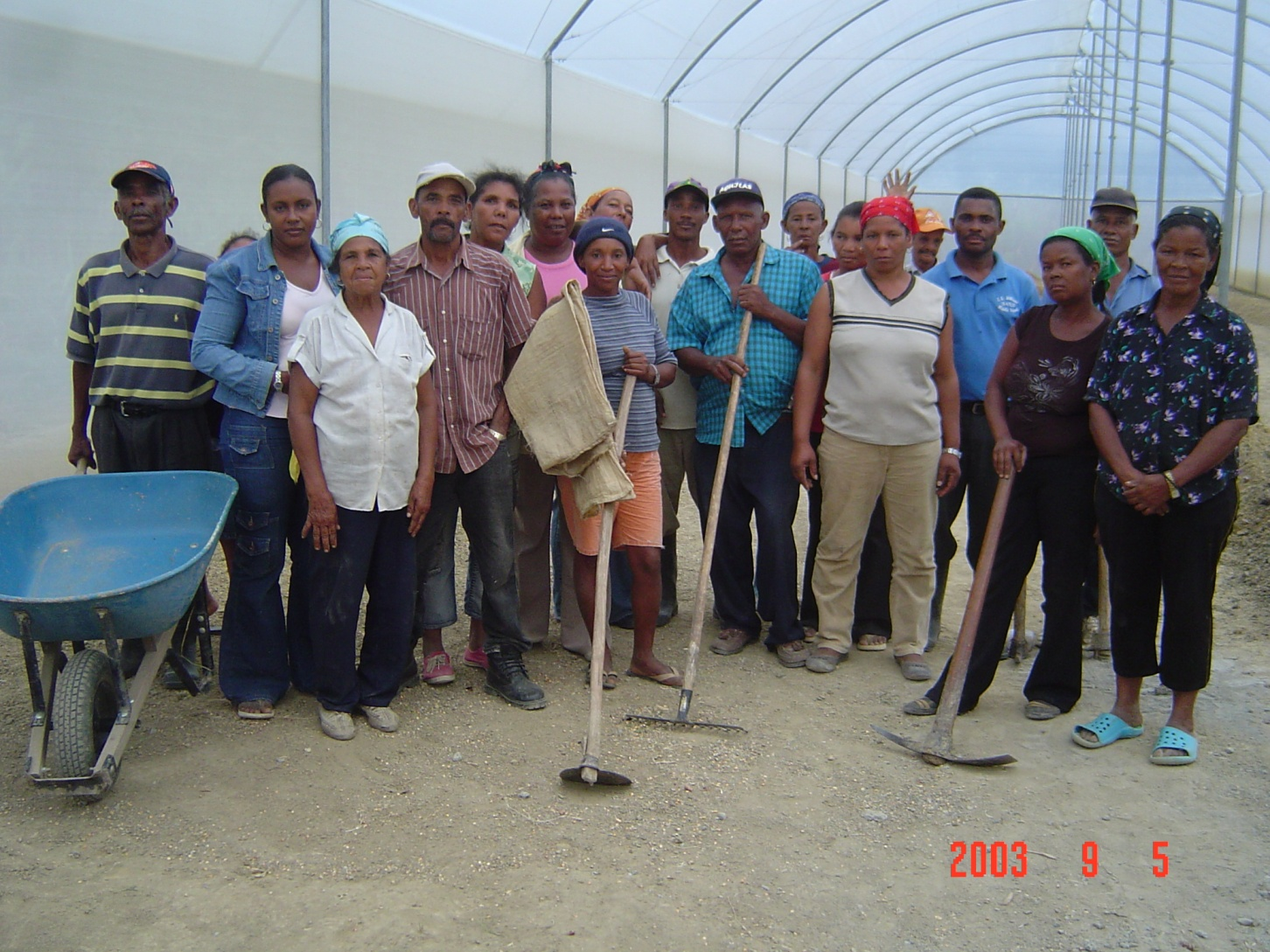 Group of farmers pose